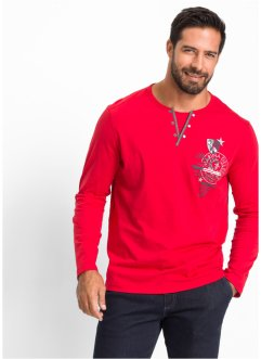 Maglia a manica lunga regular fit, bpc selection, Rosso