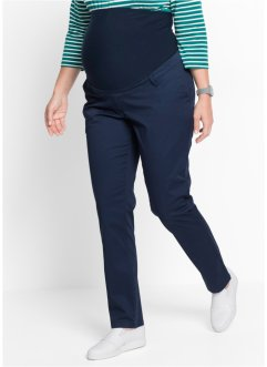 Pantalone chino prémaman, bpc bonprix collection, Blu scuro