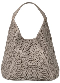 Borsa shopper traforata, bpc bonprix collection, Marroncino metalizzato