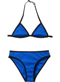 Bikini per bambina, bpc bonprix collection, Blu / nero