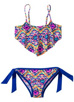 Bikini per bambina, bpc bonprix collection, Giallo / blu