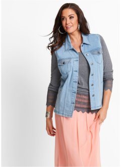 Gilet in jeans con pietruzze, bpc selection