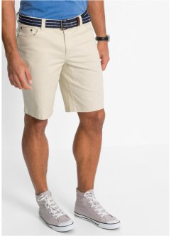 Bermuda elasticizzato classic fit, bpc bonprix collection, Ecru