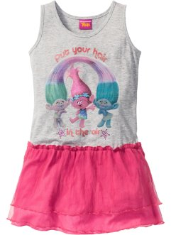"Abito ""TROLLS"", Trolls the Movie, Grigio melange / fucsia stampato"