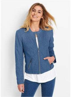 Giacca in similpelle scamosciata, bpc bonprix collection, Blu jeans