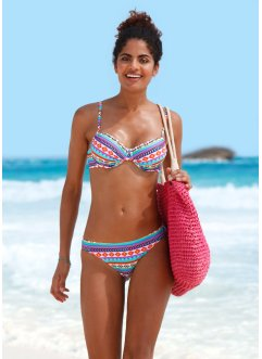 Bikini con ferretto, bpc bonprix collection, Turchese fantasia