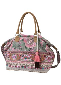 Borsa shopper con ricamo e paillettes, bpc bonprix collection