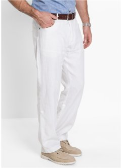 Pantalone di lino regular fit straight, bpc selection