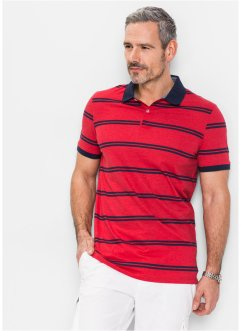 Polo regular fit, bpc selection, Rosso scuro a righe