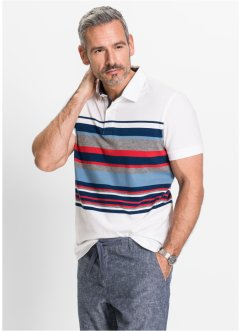 Polo regular fit, bpc selection, Bianco a righe