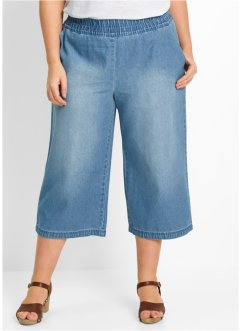 Culotte di jeans Maite Kelly, bpc bonprix collection, Blu bleached used