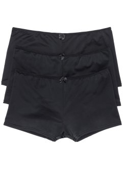 Culotte in micro touch (pacco da 3), bpc bonprix collection, Nero
