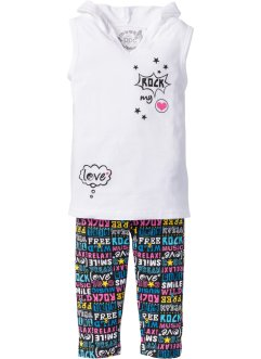 Top + pinocchietto (set 2 pezzi), bpc bonprix collection