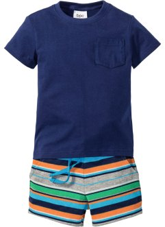 T-shirt + shorts in felpa (set 2 pezzi), bpc bonprix collection