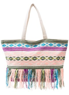 Borsa shopper con frange colorate, bpc bonprix collection