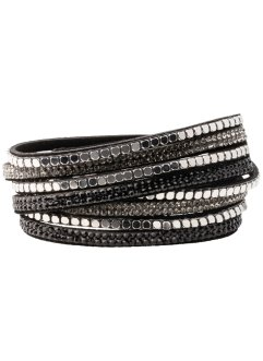 Bracciale glitterato con borchiette, bpc bonprix collection