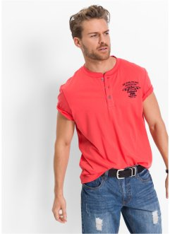 T-shirt con bottoni regular fit, John Baner JEANSWEAR