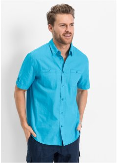 Camicia in misto lino regulat fit, bpc bonprix collection