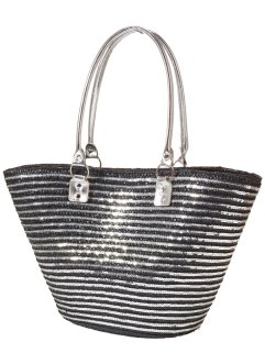 Borsa in paglia bicolore, bpc bonprix collection
