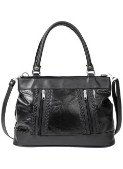 Borsa patchwork in pelle, bpc bonprix collection