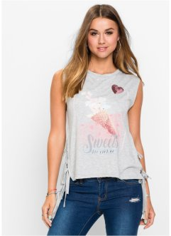 T-shirt con stringature, RAINBOW