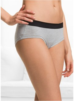 Panty (pacco da 4) in cotone biologico, bpc bonprix collection