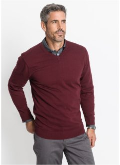 Pullover con scollo a V regular fit, bpc selection
