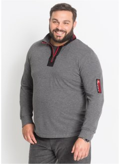Maglia a manica lunga con colletto dritto regular fit, bpc selection