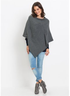 Poncho con intarsi, bpc bonprix collection
