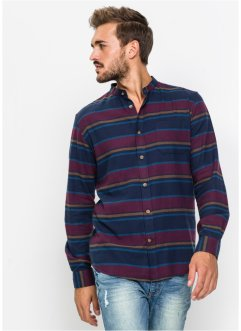 Camicia in flanella a manica lunga slim fit, RAINBOW