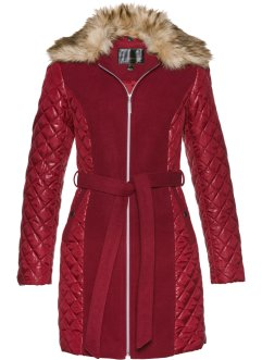 Cappotto corto con collo in ecopelliccia, bpc selection