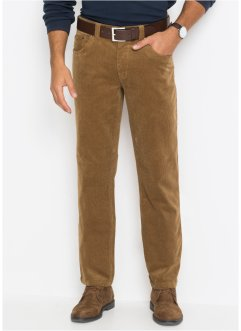Pantaloni in velluto elasticizzato regular fit straight, bpc selection