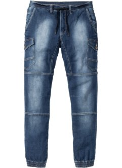 Jeans con elastico slim fit tapered, RAINBOW