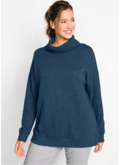 Felpa oversize a collo alto, bpc bonprix collection