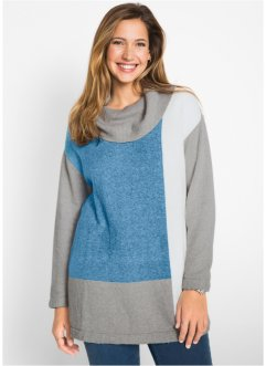 Pullover oversize a collo alto, bpc bonprix collection