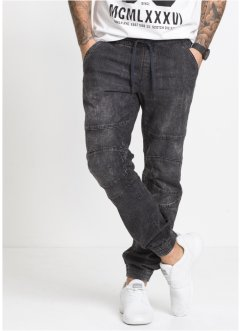 Pantalone jogger in jeans regular fit straight, RAINBOW