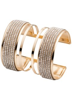 Bracciale rigido con pietre, bpc bonprix collection