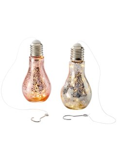 "Decorazione luminosa a LED  ""Dina"" (set 2 pezzi), bpc living"