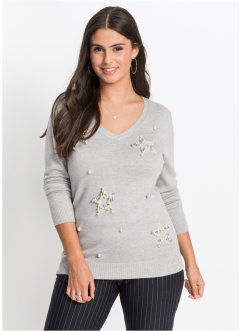 Pullover con stelle applicate, BODYFLIRT
