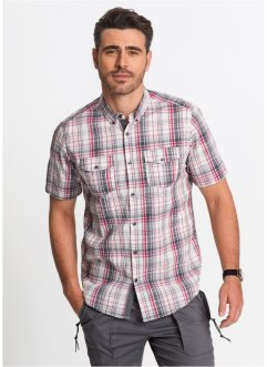 Camicia a quadri in seersucker regular fit, bpc bonprix collection