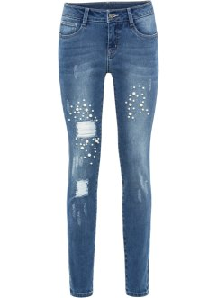 03766064d2f1 Jeans skinny con perle