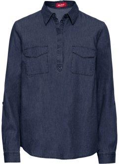 df00e2329d9f Blusa in jeans a manica lunga