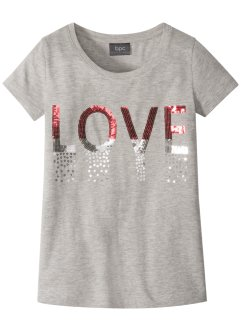 T-shirt con paillettes, bpc bonprix collection