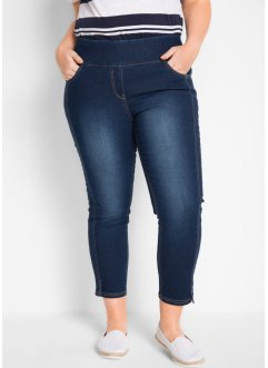 Jeans elasticizzati cropped a vita alta, bpc bonprix collection