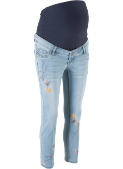 Jeans skinny prémaman 7/8 con ricamo, bpc bonprix collection