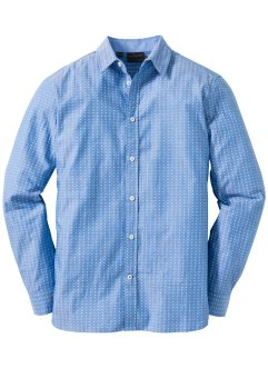 Camicia in microfantasia regular fit, bpc selection