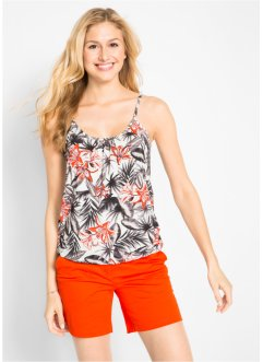 Top in maglina a fiori, bpc bonprix collection
