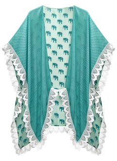 Poncho estivo con elefantini, bpc bonprix collection