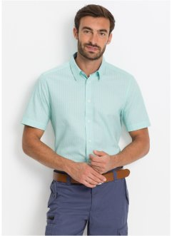 Camicia a nanica corta in microfantasia regular fit, bpc selection