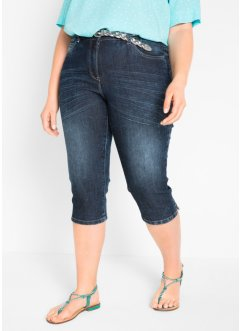 Jeans capri in look usato, bpc bonprix collection